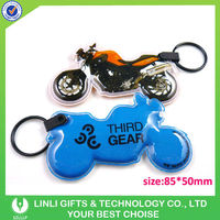 Promotional Gift Motorcycle led PVC Keyring