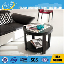 Round high glossy wenge top outdoor furniture outdoor swivel loung tabl