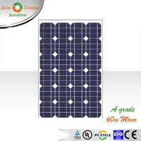 Sunshine 60w Mono A Grade Solar Panel Solar Module for 12V Solar Power System/Street Light/Battery Charging