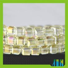 Nice beauty cube crystal glass beads in bulk