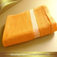 china products home design plain dyed with border bath towel wholesale 26*52""