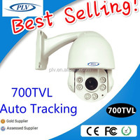 Hot-sale 700TVL mini ccd analog night vision auto motion tracking ptz camera infrared