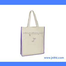 Low Price 12oz Natural Color Cotton Canvas Promotion Shopping Tote Bag