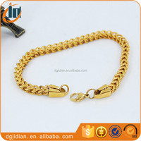 Men 24K Gold Chain Wheat Chain For Necklace And Bracelet
