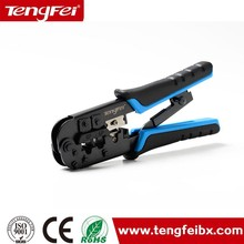HOT!!!Tengfei high quality hand tools cutter stripper rj45 cable crimping tool