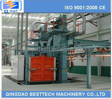 01 Besttech piled and released type catenary shot blasting machine