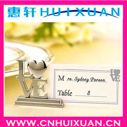 Wholesale Hot Sale wedding favors LOVE place card holder Alloy card holder as souvenir gifts