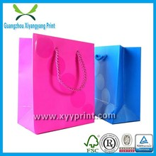 Colorful extra large custom made wholesale shopping bags for cosmetic products, shopping bags Chinese supplier