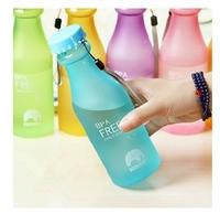 Hot selling Creative Portable Frosted Leakproof Plastic Unbreakable Soda bottles have Travel Mugs Drink bottles