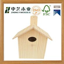 enviromental FSC&SA8000 wild antique handmade wooden bird house bird home