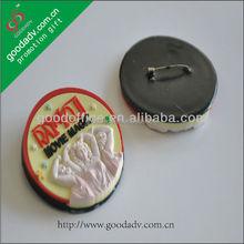 Custom cheap pvc soft button badge