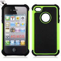 For iPhone4 TPU Case for i4S i5S i5C i6 i6S Back Cover with 3 in 1