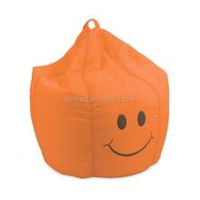 funny smile yellow kid's comfort coner beanbag sofa,lazy boy bean bag chair