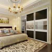 custom made solid wood sliding door closet hotel furniture high gloss lacquer glass bedroom wardrobe designs