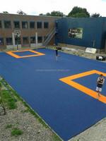 high quality ZSFloor anti-slip multi-use basketball sports court interlock floor mats