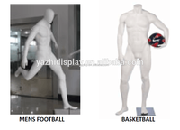 football muscles male mannequin,basketball male mannequin for window display,sport mannequin