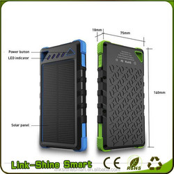8000mAh Sports Design Waterproof USB Solar Power Bank Charger