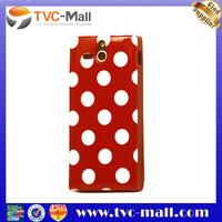 TPU Gel Case for Sony Xperia U st25i Polka Dot Phone Cases