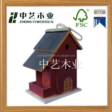 2015 hot selling FSC&SA8000 factory supplierswood indoor bird houses