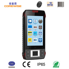 "Android quad core rugged 4.3"" mobile phone 1d 2d barocde scanner,rfid reader writer, biometric fingerprint sensor module device"
