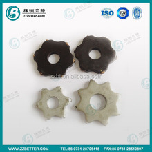 8 points tungsten carbide scarifier cutter for line removal on road