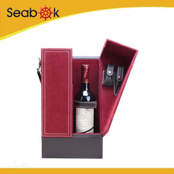 best selling custom leather wine box carrier, wine gift box