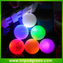 High visible in evening,flashing light led golf ball printing own LOGO