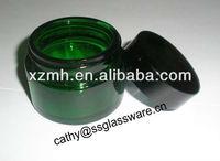 50ml green glass cosmetic jar