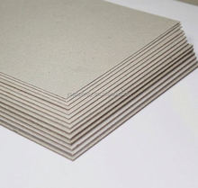Popular grade AA grey chip paper board for book cover
