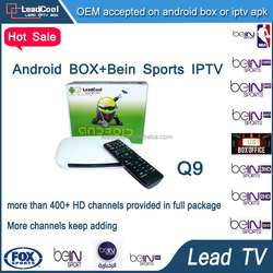 Set Top Tv Box Android Q9 + 1year Leadtv Arabic Iptv Account Arabic/French/Tunisia/Beinsports/ Channels Hot Iptv Box Android 4.4