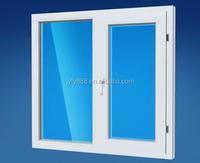 UPVC two panels horizontal open plastic sliding window