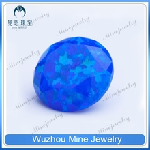 OP# 50 Sleepy Blue Opal Color Round Brilliant Cut Opal Diamond