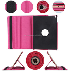 Hot sale for iPad 4 flip leather case with stand 360 degree rotating leather cover case