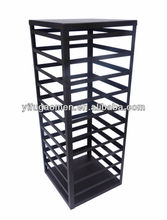 Flooring stand rotating metal jewelry display rack design for earring supermarket display rack 11453