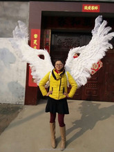 150cm big white feather angel wings for sale