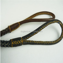 2015 New Pet Grooming Product Braided Geniue Leather Rope Dog Leash Pet Dog Accessories