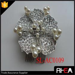 Factory Directly Bridal Hair comb hot sale wedding hair accessories bun pins