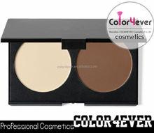 Wholesale double Colors Makeup Bronzer contour face powder Palettes makeup foundation