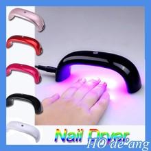 Hogift Free Shipping Mini Nail Dryer/LED UV Curing Nail Dryer/Nail Gel Polish Dryer