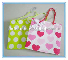 Luxury fancy printed shopping gift paper bag with bubbles