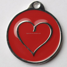 Offer free sample custom znic alloy id dog tag or pet tag with hot love