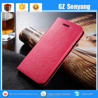 Luxury Mobile Accessories Genuine Leather Flip Cover Case for Apple iPhone 6