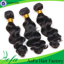 Double weft ture lengths natural soft 100% virgin human women hair product