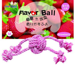 Amy Carol strawberry flavor rope ball for rope dog toy
