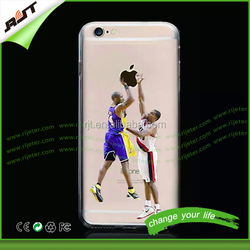 For iphone 6 tpu case ultra slim transparent crystal soft tpu back cover case for iphone 6s 6 plus nba clear case