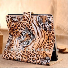 Fashion Leopard grain leather case for ipad mini