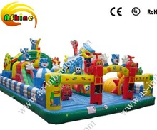 Inflatable amusement city,fun inflatable toys for kids