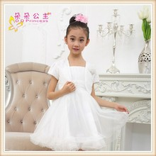 2015 summer Spaghetti Strap dresses of party for girls of 12 years with Shawl