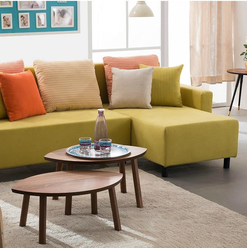 Price Of Corner Sofas: High-density Foam Small Corner Sofa With Chaise Corner