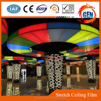 high stretch interior plastic colorful pvc ceiling reinforced membrane